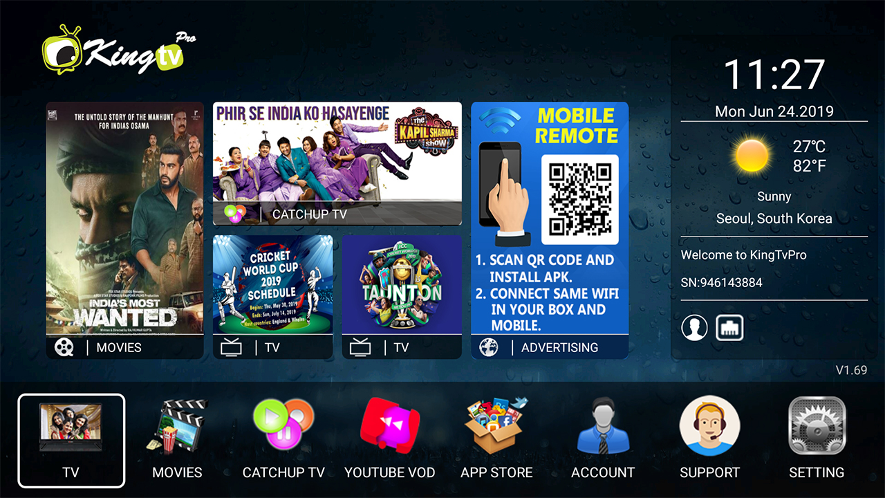 King Tv Pro Launcher
