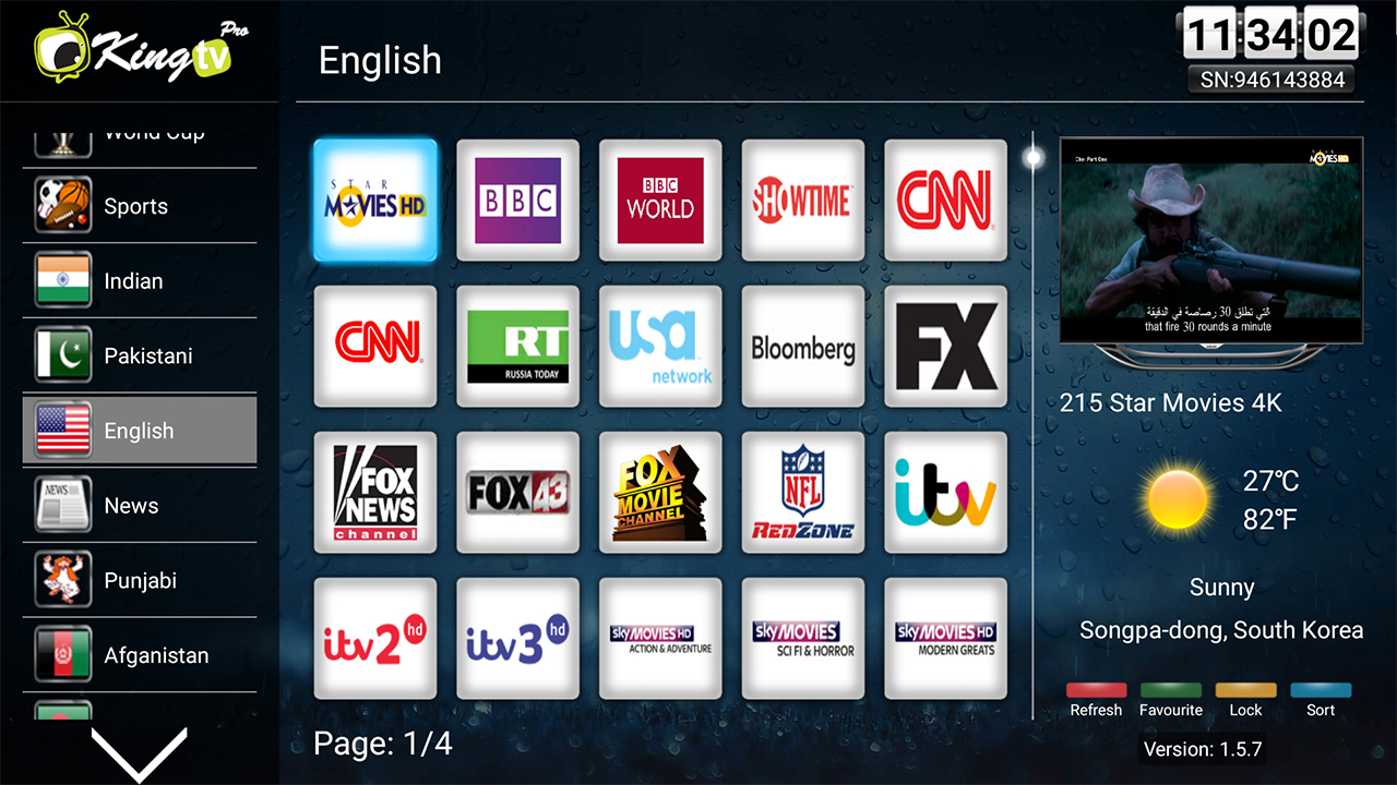 King Tv Pro English Tv Channels