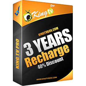 king Tv Pro Recharge 3 years
